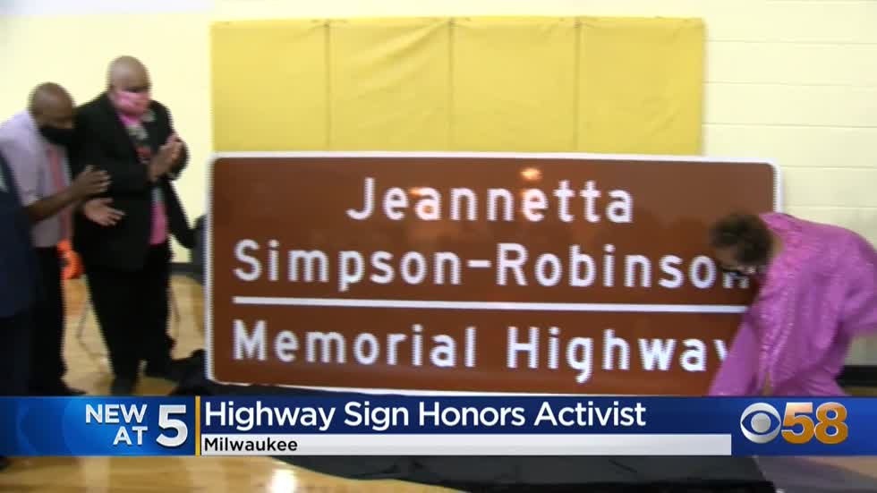 Jeannetta Simpson-Robinson Memorial Highway celebrates Milwaukee...