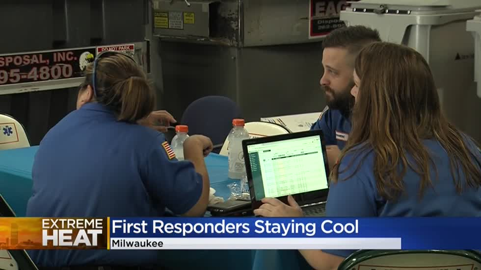 Bell Ambulance opens hydration station for crews to cool off in between calls