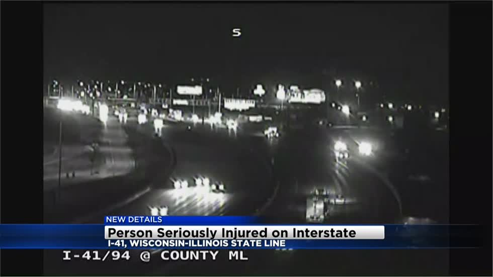 UPDATE: Pedestrian hit on I-41 southbound near Wisconsin-Illinois border, in serious condition