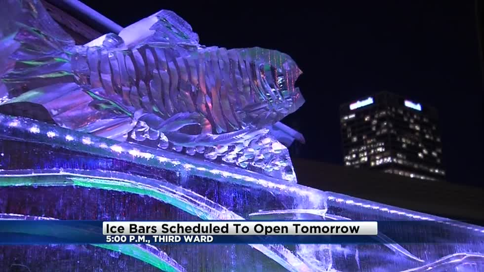 Ice bars scheduled to open Thursday