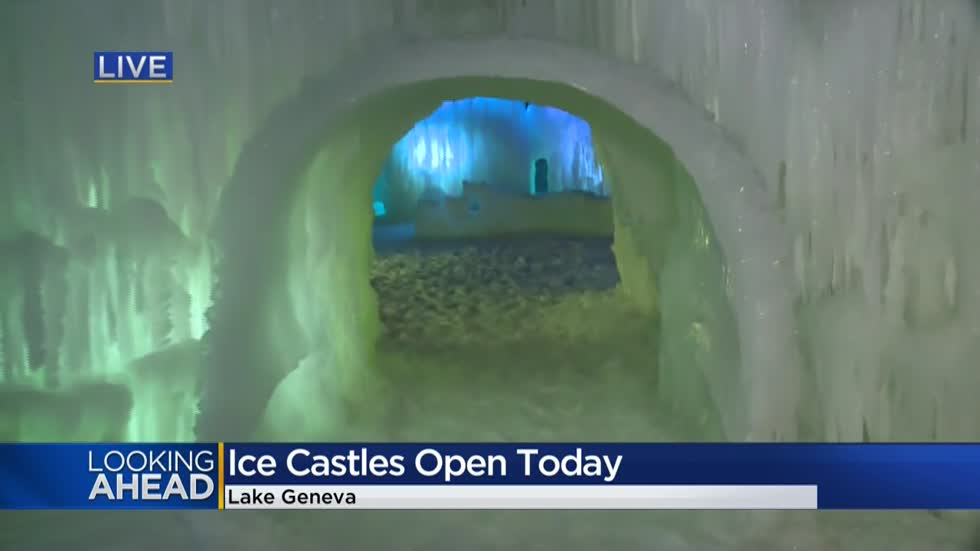 "New location for Lake Geneva ""Ice Castles"" but frozen fascination just the same"