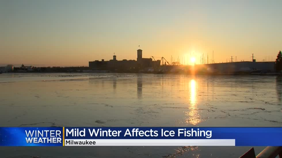 Fluctuating temperatures this winter to blame for late ice fishing season in Milwaukee