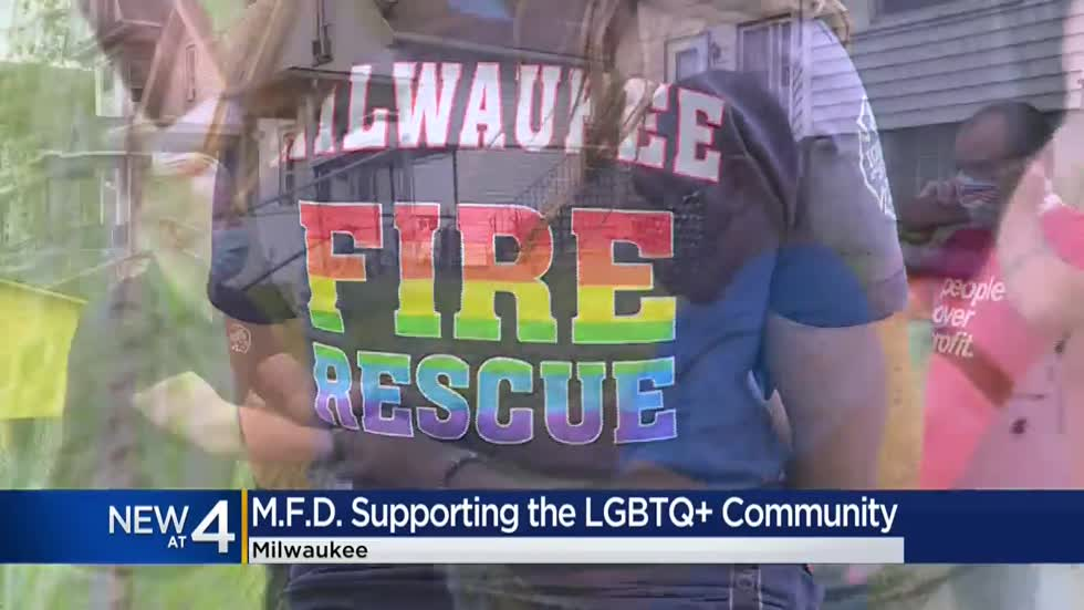 Milwaukee Fire Department backs LGBTQ community with custom T-shirt during Pride Month