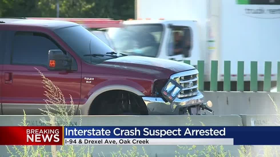 Police arrest driver of SUV that fled crash scene after striking a motorcyclist at I-94 and Drexel