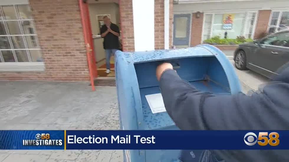 CBS 58 Investigates: Testing election mail delivery