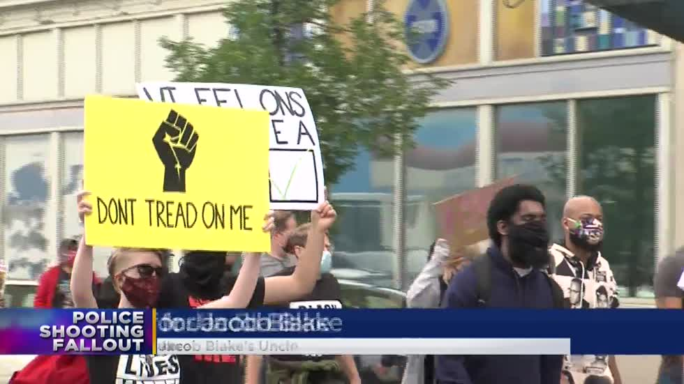 Activists, Blake family demand Kenosha officer be charged during Milwaukee protest