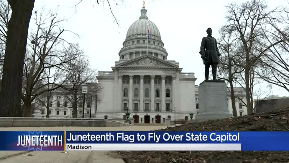 Juneteenth flag will fly over Wisconsin Capitol for 1st time in state history