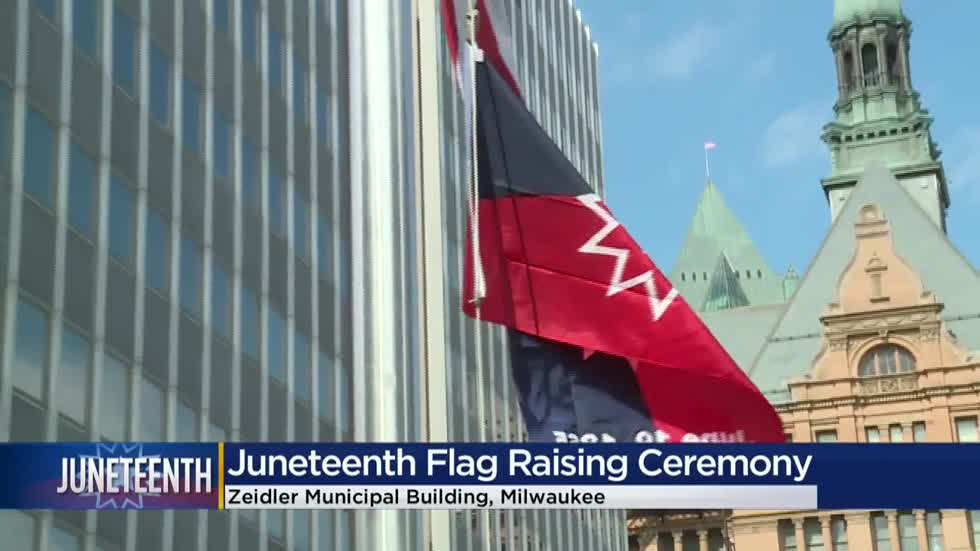History in Milwaukee: Juneteenth flag raised for first time ever