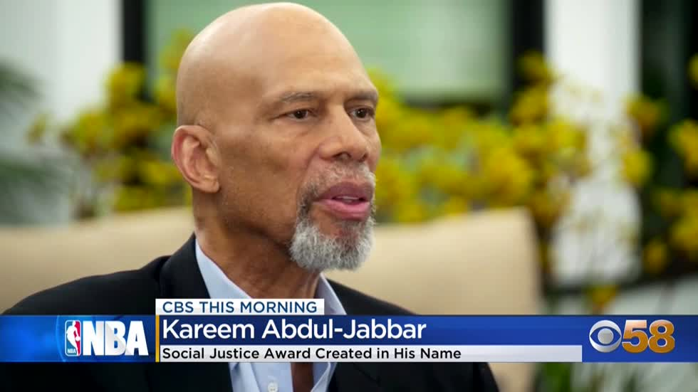 NBA creates new social justice award named after Kareem Abdul-Jabbar