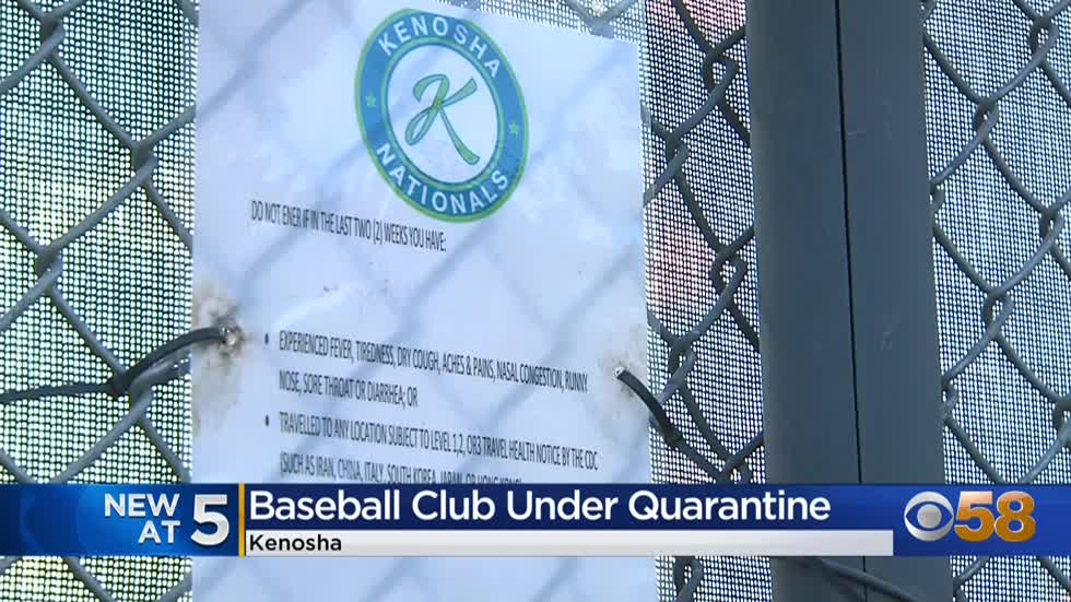 Players, coaches quarantine after someone affiliated with Kenosha Nationals Baseball Club tests positive for COVID-19