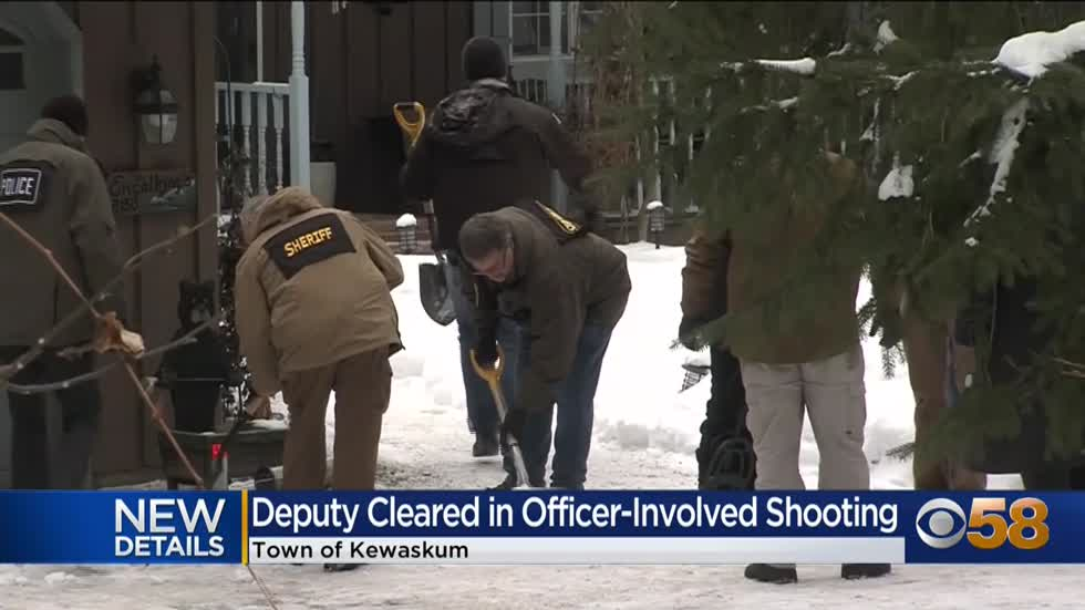 Kewaskum officer cleared after fatally shooting suspect during deadly home invasion