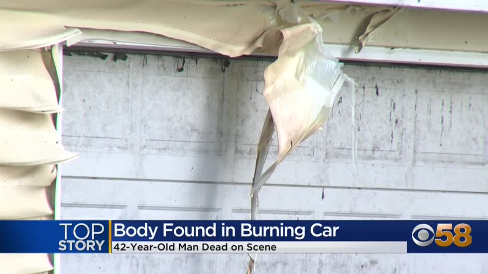 Man's body found following car fire near Hawley Road and Martin...