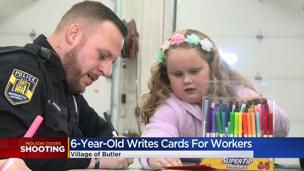 Butler kindergartner writes cards for every employee at Molson Coors in aftermath of tragedy