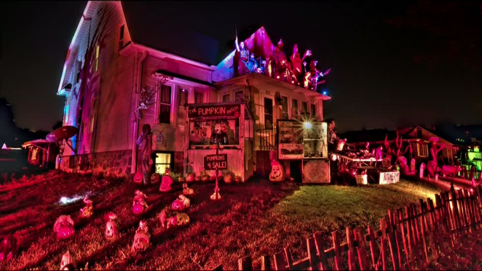 "Neighbors call Adam Novak of West Allis the ""King of Halloween"" for his decorations"