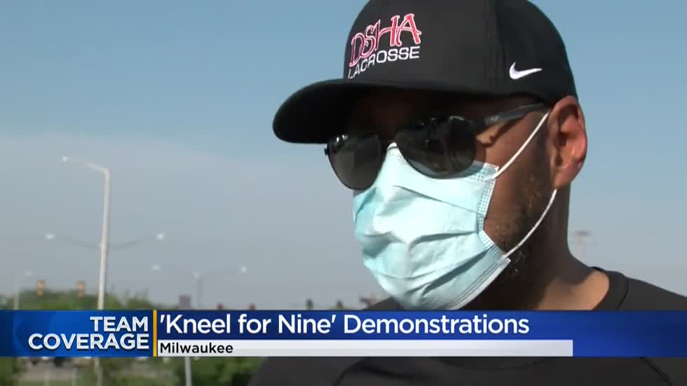 Kneel for Nine: Demonstrators gather across Wisconsin to pay tribute to George Floyd
