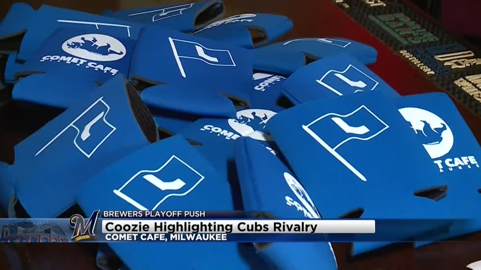 Koozie available at Comet Cafe highlights Cubs rivalry