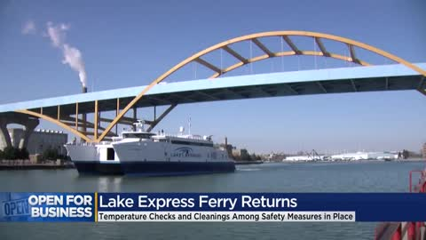 Lake Express Ferry returns with safety measures in place