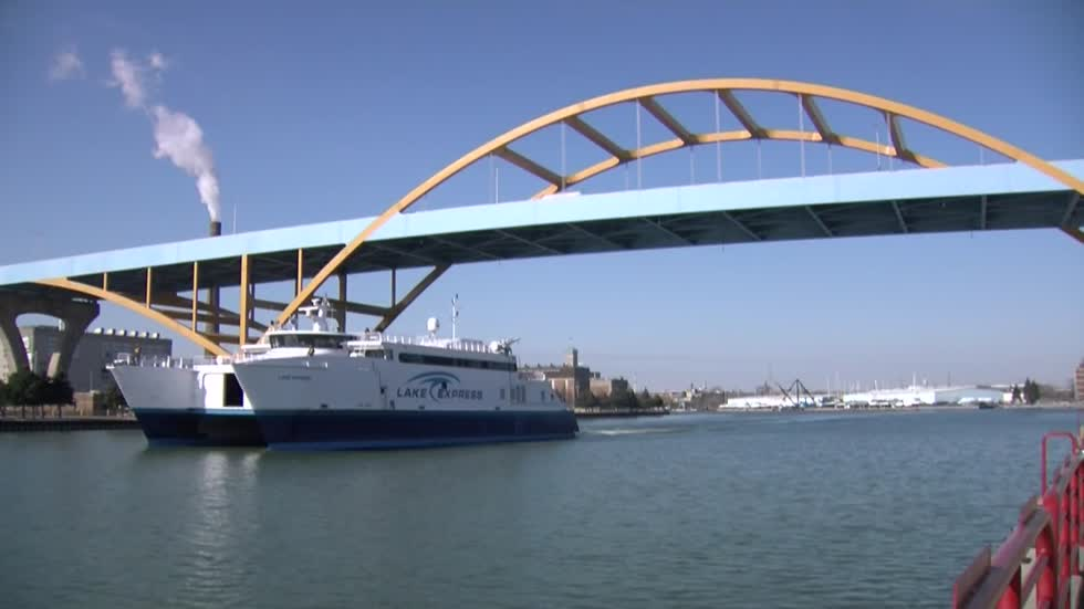 Lake Express Ferry arrives, 15th season begins April 27
