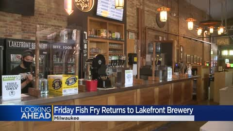 Friday night fish fry, dine-in style returns to Lakefront Brewery -- with restrictions