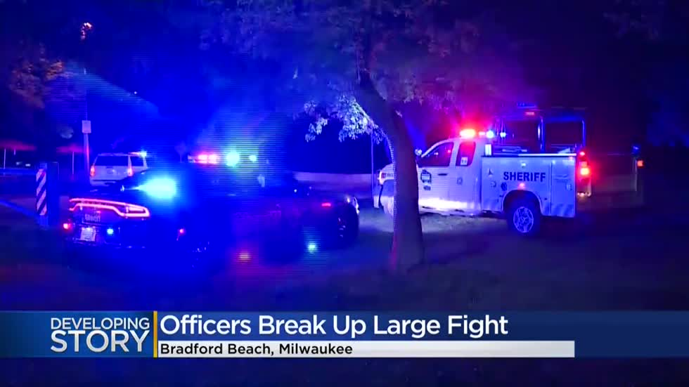 'Packed with people:' Large fight breaks out on Milwaukee's lakefront