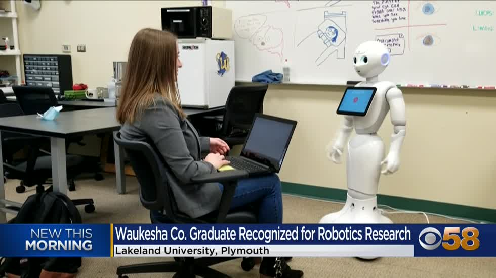 Lakeland University graduate applauded for research project on robots and autism