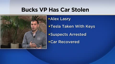 Suspects arrested after Bucks Senior Vice President has car stolen