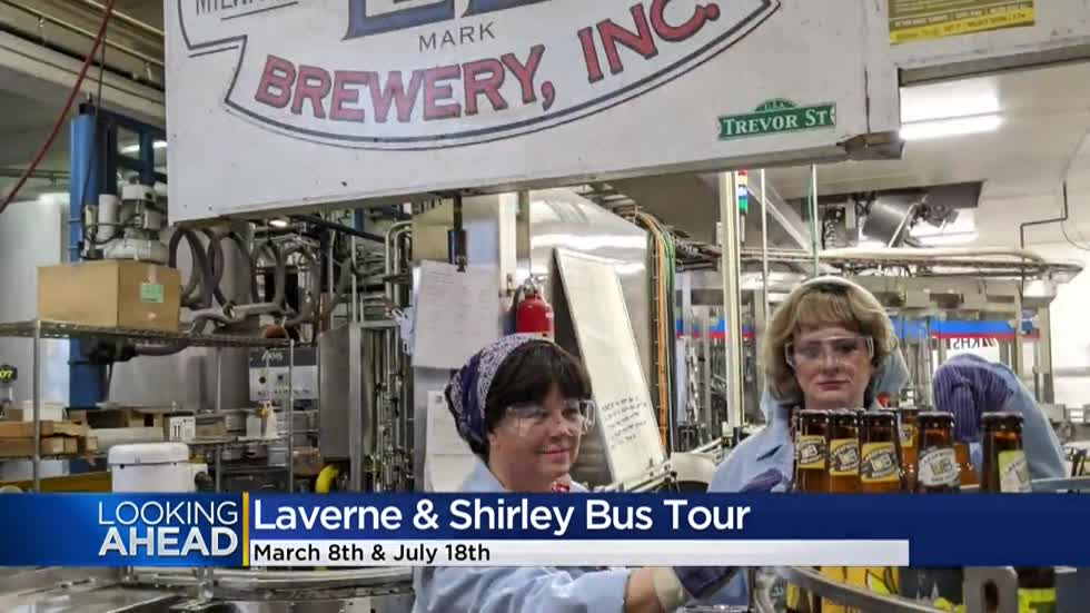 Laverne & Shirley's Milwaukee bus tour coming this weekend