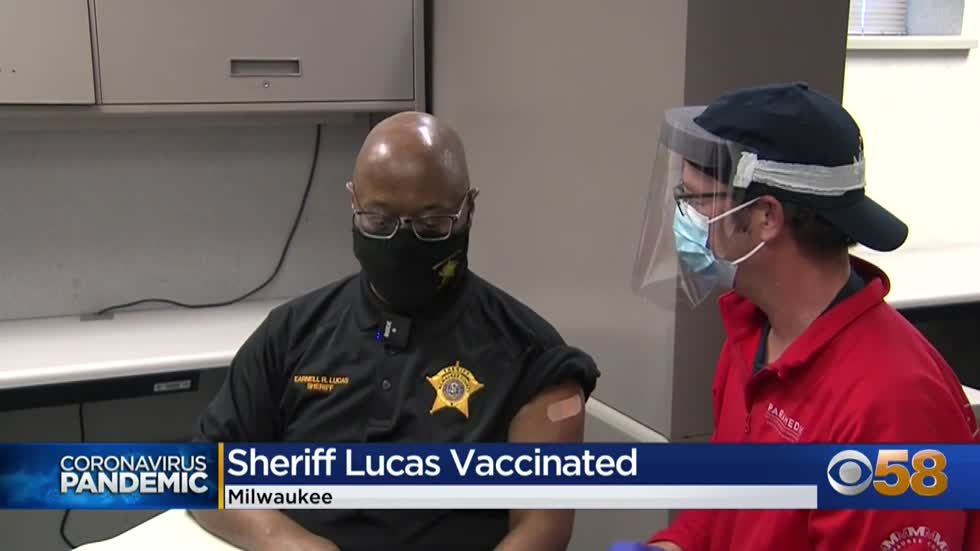 Local law enforcement officials receive COVID-19 vaccinations