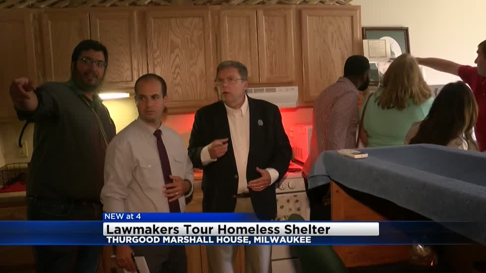 Lawmakers tour Milwaukee homeless shelter