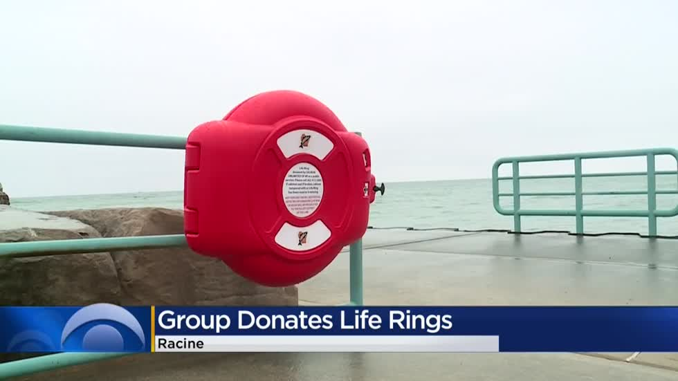 Group donates life rings to help save lives along Lake Michigan