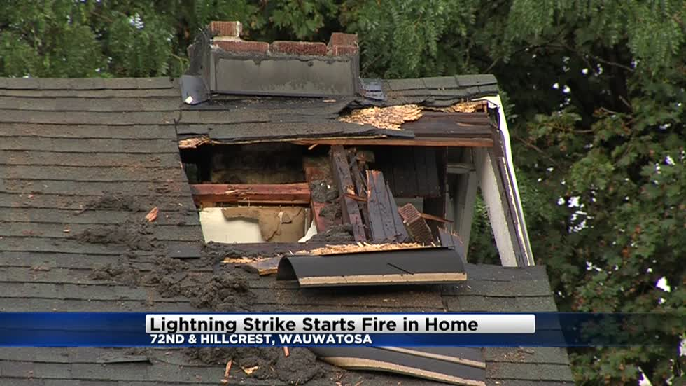 No injuries reported after lightning strikes home near 72nd and Hillcrest