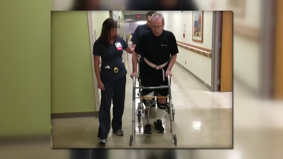 Okauchee man walks for the first time...again
