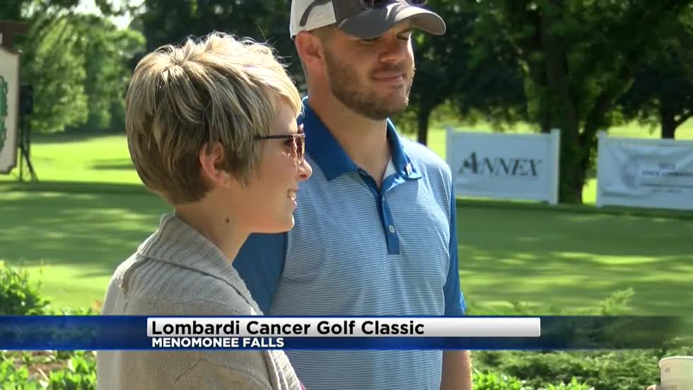 """That's what is saving my life:"" Mason Crosby's family shows support for Lombardi Cancer Foundation Golf Classic"