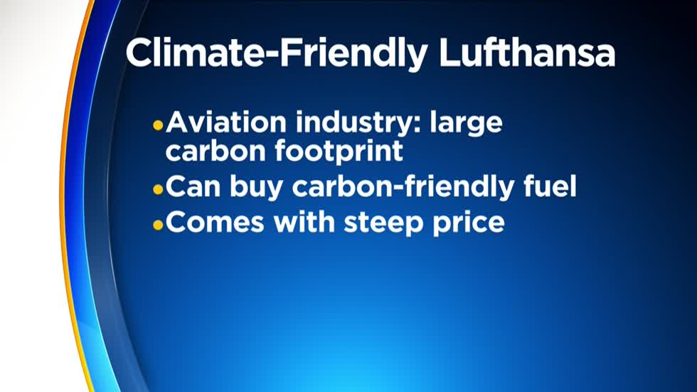 Lufthansa offers climate-friendly fuel, but at a price