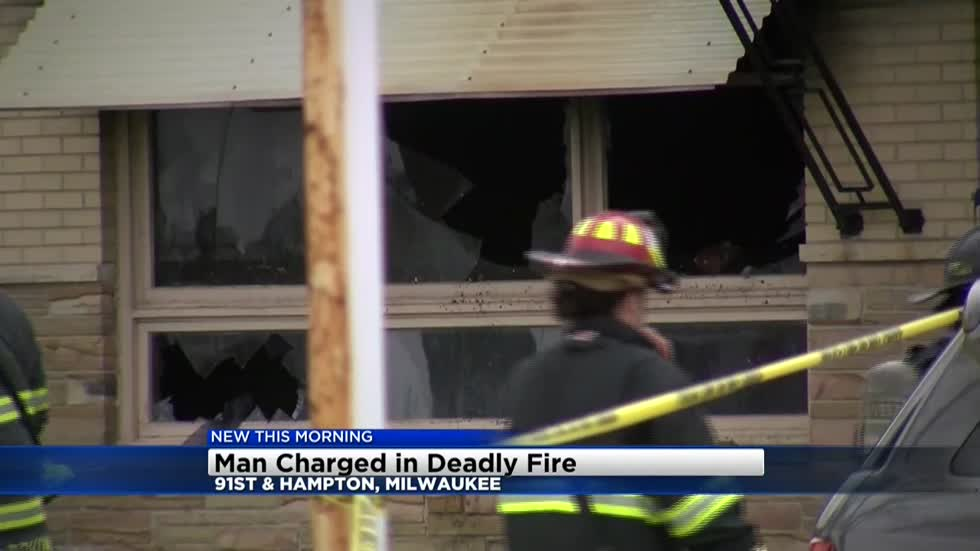 Milwaukee man charged in fatal apartment fire