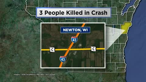 Three dead after crash in Manitowoc County
