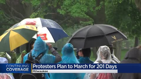 Milwaukee protest organizer says he plans to march for 201 straight days