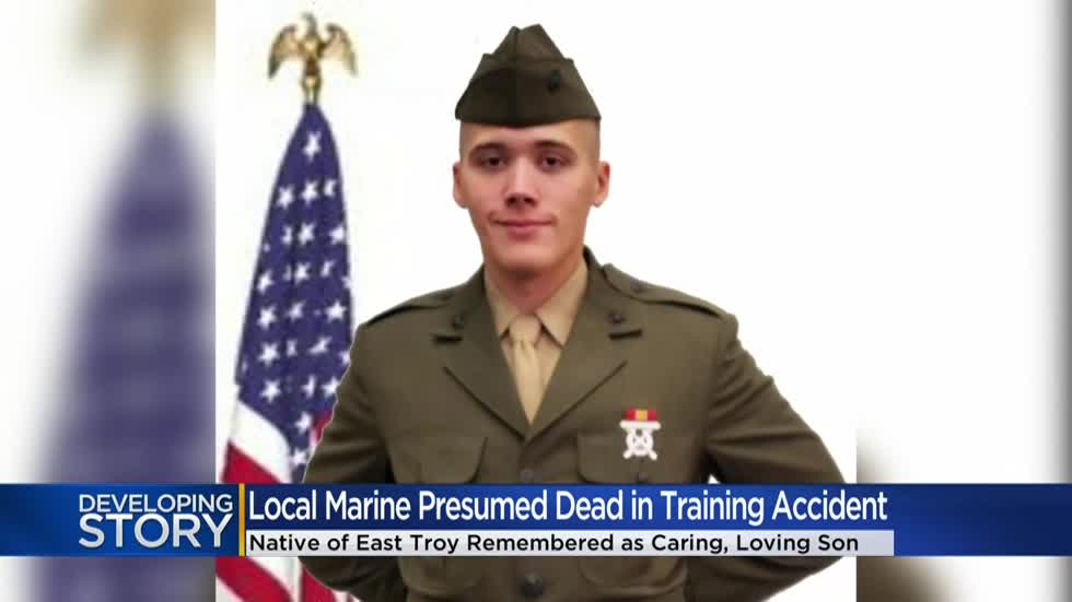 19-year-old Marine from East Troy presumed dead in California training accident