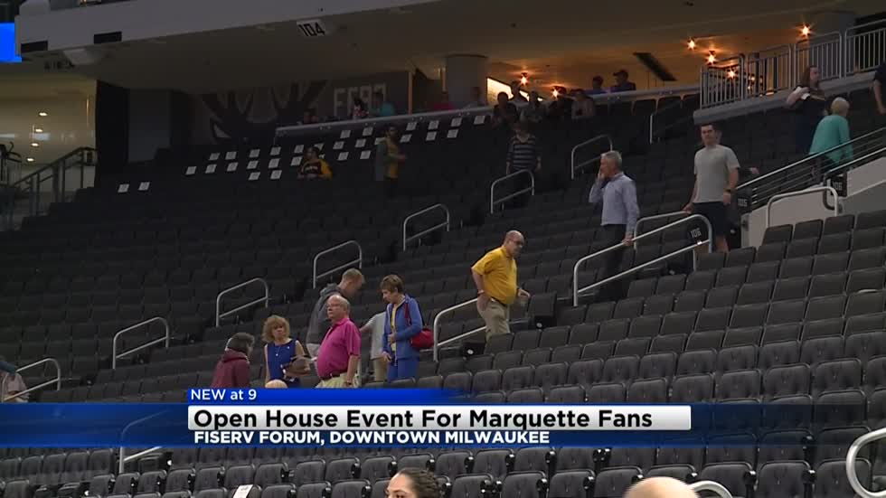 Open event held for Marquette fans at Fiserv Forum
