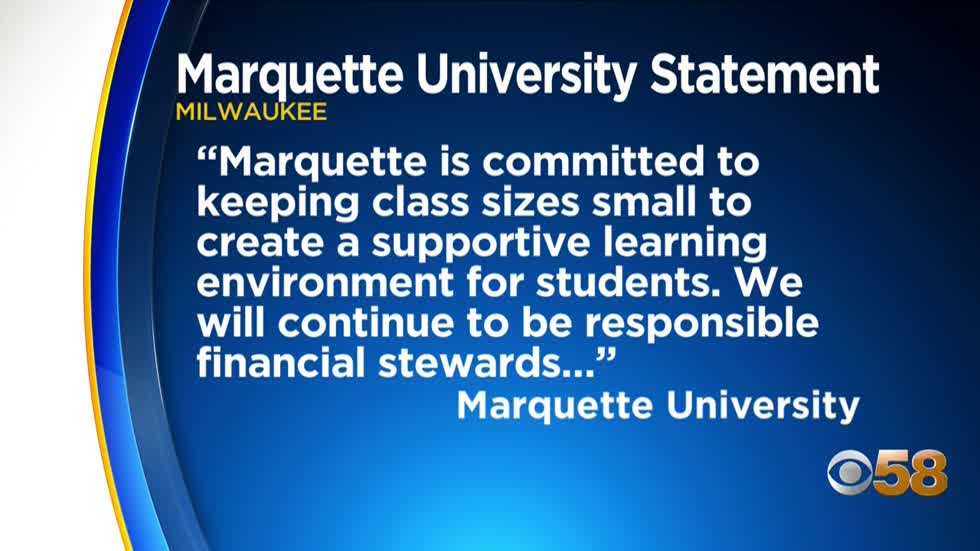 Marquette University students, faculty protest after school fires...