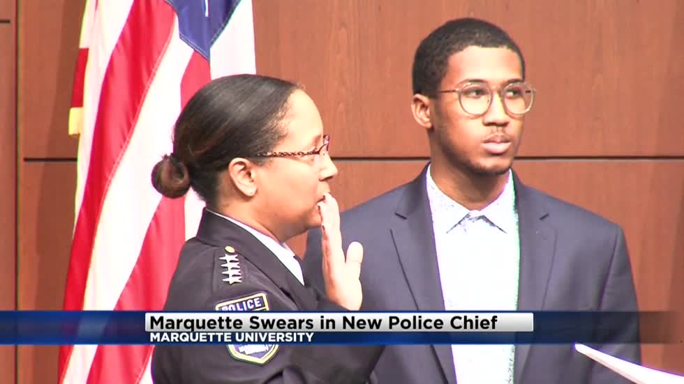 New Chief sworn in for Marquette University Police