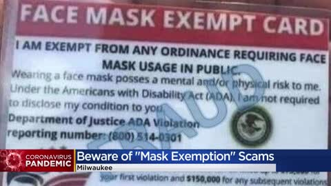 BBB warns 'mask exempt' cards are fake