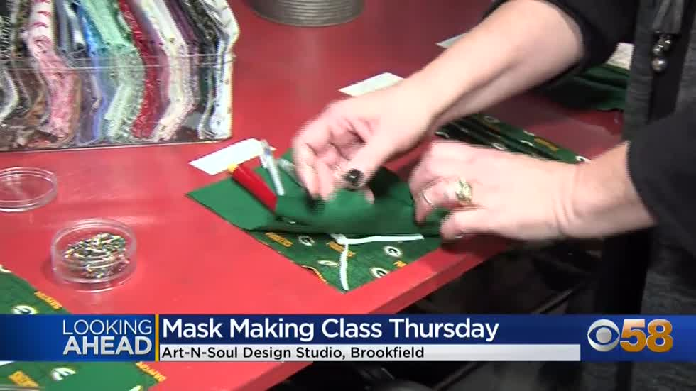 "No masking it! Brookfield's ""Art-N-Soul Design Studio"" offers a mask-making class on Thursday"
