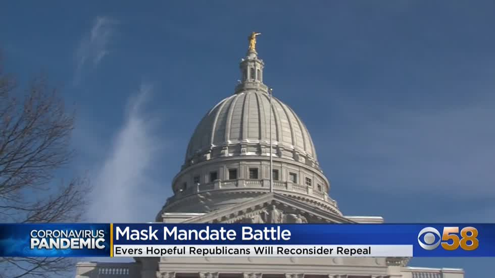 Gov. Evers won't commit to issuing another mask order, urges Republicans to reconsider