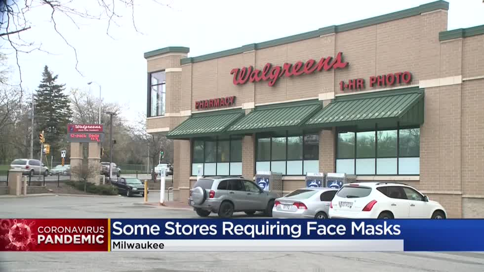Stores begin requiring masks to gain entry