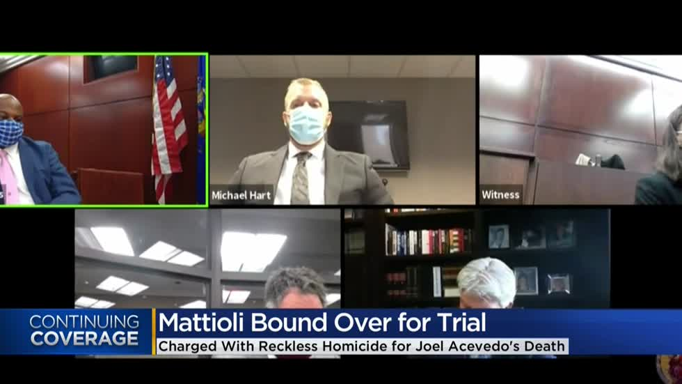 Michael Mattioli, MPD officer accused of homicide, bound over for trial