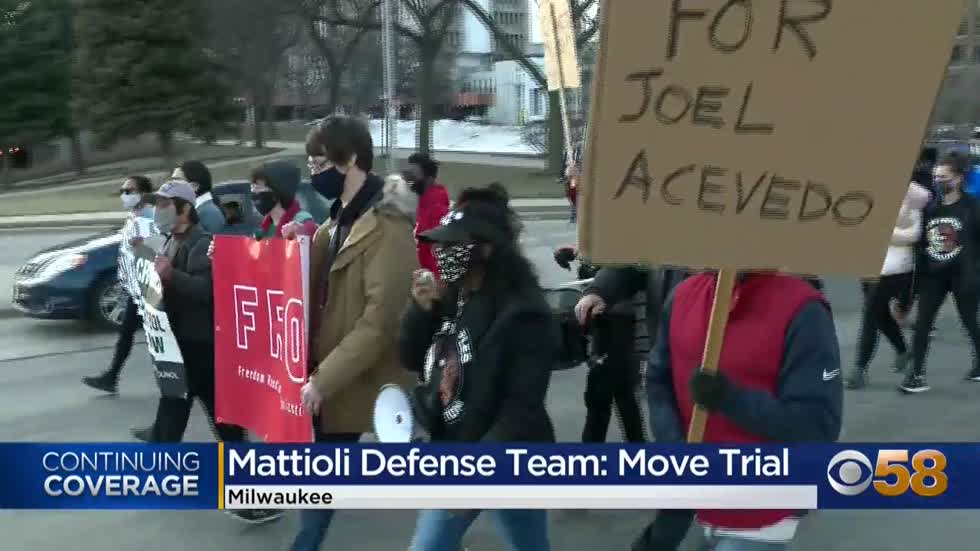 Mattioli asks for trial to be moved out of Milwaukee as protesters...