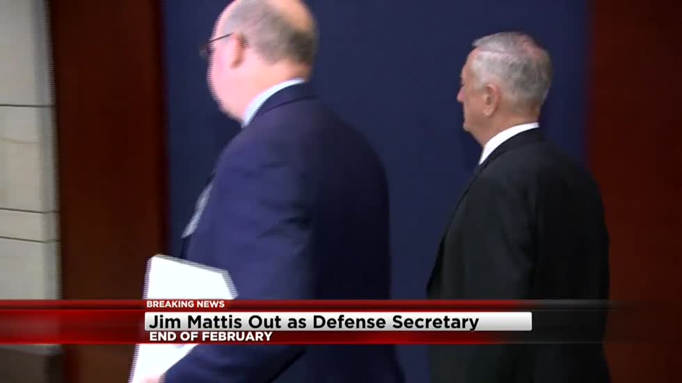 Mattis leaving as Pentagon chief after clashes with Trump