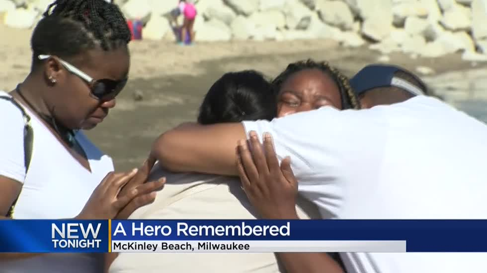 Teen survivor of near-drowning on McKinley Beach speaks out about the man who saved him