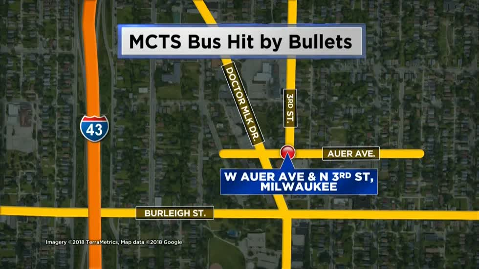 MCTS bus hit by bullets, no one hurt